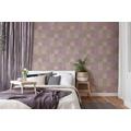 Livingwalls Vliestapete New Walls Tapete Finca Home in Fliesen Optik lila grau beige 374062 10,05 m x 0,53 m