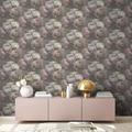 Livingwalls Vliestapete New Walls Tapete Romantic Dream mit romantischen Rosen grün lila