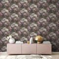 Livingwalls Vliestapete New Walls Tapete Romantic Dream mit romantischen Rosen weiß lila grau 373922 10,05 m x 0,53 m