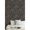Livingwalls Vliestapete New Walls Tapete Urban Grace geometrisch grafisch metallic schwarz 374246
