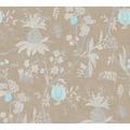 Livingwalls Vliestapete Paradise Garden Tapete in Dschungel Optik braun grau blau 367193 10,05 m x 0,53 m