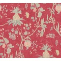 Livingwalls Vliestapete Paradise Garden Tapete in Dschungel Optik braun rot rosa 367196 10,05 m x 0,53 m