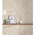 Livingwalls Vliestapete Trendwall Tapete mit Ornamenten barock beige creme metallic 10,05 m x 0,53 m