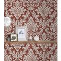 Livingwalls Vliestapete Trendwall Tapete mit Ornamenten barock beige metallic rot 10,05 m x 0,53 m