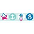 Lovely Label Selbstklebende Bordüre Piraten Mint/Pink