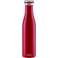 Lurch Isolier-Flasche 750ml bordeaux rot aus Edelstahl Thermoflasche hält bis zu 12 Stunden heiß oder kalt