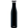 Lurch Isolier-Flasche 750ml mattschwarz aus Edelstahl Thermoflasche hält bis zu 12 Stunden heiß oder kalt