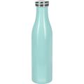 Lurch Isolierflasche 0,75l mint, hält 12 Std. heiß/kalt, 100% dicht, Thermo-Flasche 750ml Edelstahl