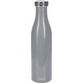 Lurch Isolierflasche 0,75l perlgrau, hält 12 Std. heiß/kalt, 100% dicht, Thermo-Flasche Trinkflasche 750ml Edelstahl