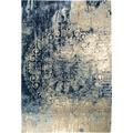 Luxor Living Vintage-Teppich Barock blau-beige 80 x 150 cm