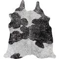 Luxor Living Rinderfell Deluxe schwarz/weiß/silber 3-5 qm