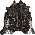 Luxor Living Rinderfell Deluxe schwarz silber 3-5 m²