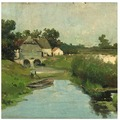 MADISON Bild Weissenbruch, Landschaft 79x79 cm, Outdoor