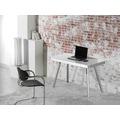 MAJA Möbel Schreib- und Computertisch Office Metall Alu Weißglas