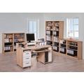 MAJA Möbel Schreib- und Computertisch OFFICE EINZELMODELLE Sonoma-Eiche - Icy-weiß 141,1 x 104,4 x 67 cm