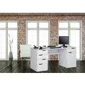 MAJA Möbel Schreib- und Computertisch OFFICE EINZELMODELLE weiß Hochglanz - Icy-weiß 160 x 74,5 x 67 cm