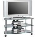 MAJA Möbel TV-Rack Media Modelle Metall Alu Klarglas