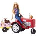 Barbie Barbie Bäuerin Puppe und Traktor Spielset
