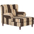 Max Winzer Big-Sessel inkl. 2x Zierkissen 55x55cm + 40x40cm Mareille Chenille schwarz 103 x 149 x 103