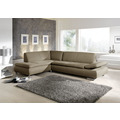 Max Winzer Ecksofa Terrence Taupe links mit Sofa 2,5-Sitzer rechts Terrence Flachgewebe taupe 270 x 190 x 76