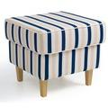 Max Winzer Hocker blau-weiß 53 x 53 x 45