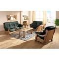 Max Winzer Sofa 3-Sitzer Tennessee pigmentiertes Nappaleder dunkelgrün 205 x 95 x 95