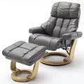 MCA furniture Calgary XXL Relaxsessel mit Hocker, schlamm/natur