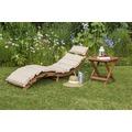 merxx Gartenliegen Set Ipanema 3tlg Grün/Beige Sonnenliege