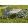 merxx Amalfi Set 5tlg., Klappsessel & 120 (180) x90 cm, marineblau