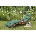 merxx Ipanema Liege, inkl. grün/beigen Wendekissen Gartenliege Sonnenliege