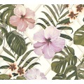 Michalsky Living Vliestapete Dream Again Tapete floral grün rosa weiß