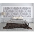 Michalsky Living Vliestapete Dream Again Tapete mit Palmenprint in Dschungel Optik weiß grau 10,05 m x 0,53 m