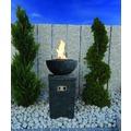 Modeno Gasfeuerstelle Kupe, Beton-Optik dunkelgrau, aus Faserbeton