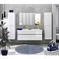 Möbilia Badezimmer Set 140 cm, 4 tlg. weiß Hochglanz 15020007