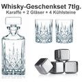 Nachtmann Whisky-Set Noblesse 7er Set (1 Dekanter/Karaffe + 2 Whiskygläser + 4 Whiskysteine)