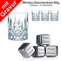 Nachtmann Whisky-Set Noblesse mit Wunschgravur 8tlg. Set (4 Whiskygläser + 4 Whiskysteine mit Gravur)