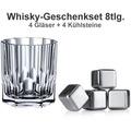 Nachtmann Whiskyset Aspen 8er Set (4 Whiskygläser + 4 Whiskysteine)