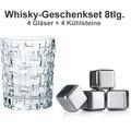 Nachtmann Whiskyset Bossa Nova 8er Set (4 Whiskygläser + 4 Whiskysteine)