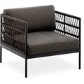 Niehoff Garden Loungegruppe AZURI Einzelsessel mit Armlehnen Aluminium, Farbton anthrazit 82,5x80 / 71cm