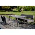 Niehoff Garden Tisch NOAH Tischplatte HPL Beton Gestell Profilkufe Edelstahl 160x95 / 76cm