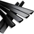 NOOR 25 Klemmschienen für Sichtschutzstreifen Farbe schwarz ~RAL 9005