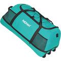 NOWI XXL 3-Rollen Reisetasche platzsparend 81 cm mit Dehnfalte aqua2