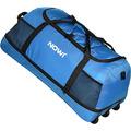 NOWI XXL 3-Rollen Reisetasche platzsparend 81 cm mit Dehnfalte blau