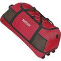 NOWI XXL 3-Rollen Reisetasche platzsparend 81 cm mit Dehnfalte bordeaux