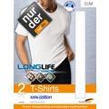 nur der T-Shirt LONGLIFE Doppelpack weiß 5=M
