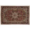 Oriental Collection Teppich, Sarough, Perser-Teppich, handgeknüpft, reine Schurwolle, florale Ornamentik, 82 x 124 cm