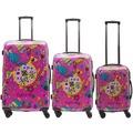 Packenger One World by Della Koffer 3er-Set, Pink