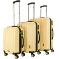 Packenger Premium Koffer 3er-Set Velvet M, L+XL in Cafe-au-lait