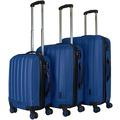 Packenger Premium Koffer 3er-Set Velvet M, L+XL in Dunkelblau