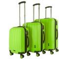 Packenger Premium Koffer 3er-Set Velvet M, L+XL in Grün